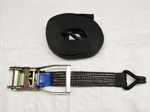 X1 Black 50MM 3M 5 Ton Ratchet Strap - Claw Hook 5000KG Metre Tie Down J Lashing